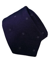 John Varvatos USA 100% Silk Textured Mini Dot Stars Neck Tie Italy Purple