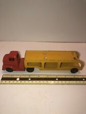 Vintage Tootsie Toy Car Hauler Trailer With Tractor