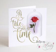 BEAUTY AND THE BEAST Birthday Card - A TALE AS OLD AS TIME - Daughter Girls