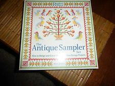 The Antique Sampler Set: Design & Cross-Stitch Your Own Vintage Projects, nib