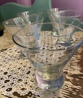 """Coctail Martini Glasses Heavy Bottom Unbranded 5"""" Tall - Set Of 4"""
