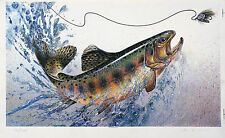 Golden Trout - silk screened print