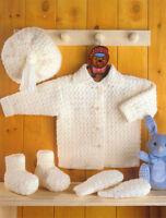 Crochet pattern- Baby cardigan -hat-mitts-boots- crochet in DK-4ply or Aran wool
