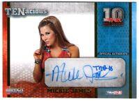 TNA Mickie James 2012 TENacious GOLD Inscribed TNA10 Autograph Card SN 60 of 100