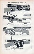 Antique print fire weapon rifle gun vuurwapen 1894