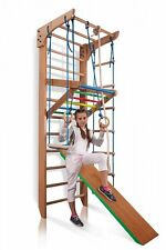 Swedish Ladder Wall Bars Sport Wooden Children Home Gym Adults Kids Toys Workout