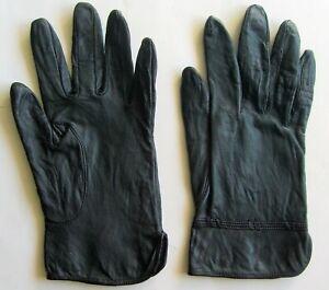 DAMEN Lederhandschuhe, Gr. 7,5, schwarz
