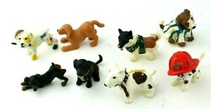 Topps 1997 PVC Lot of Toy Figures Dogs Precious Puppies Figurine Vintage Animals