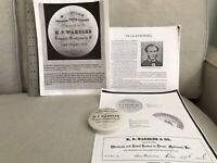 H.P. WAKELEE BURDELL'S ORIENTAL TOOTH POWDER POT LID 1856-1858