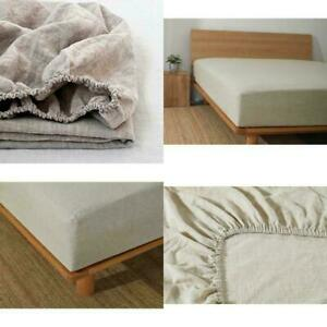 100% Linen Fitted sheet,100% natural Flax fitted sheet linen bedding bed sheet
