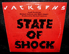 JACKSONS State Of Shock (1984 U.S. Gold Foil Stamped Unique Cover Promo 12inch)