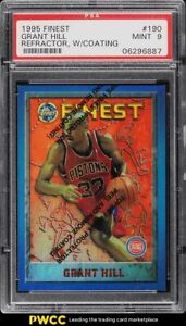 1995 Finest Refractor w/ Coating Grant Hill #190 PSA 9 MINT