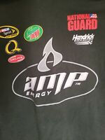 Mens 2XL NASCAR Dale Earnhardt Jr Mountain Dew AMP Green Sprint Cup T Shirt