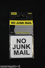 1pc No Junk Mail Home Stick on Letterbox Mailbox Sign 55mm X 55mm