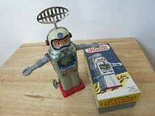 1960s ALPS TELEVISION SPACEMAN - NASA Tin Clockwork Astronaut Space Toy - Japan