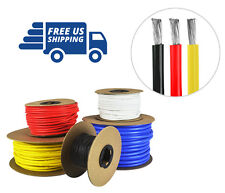 14 AWG Silicone Wire Spool Fine Strand Tinned Copper 25' each Red, Black, Yellow