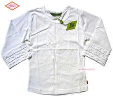 Oilily ✿ NWT ✿ Girls White Ruffle Top Tee sz 116 / 5 - 6 ✿ European Designer ✿