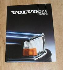 Volvo 240 Saloon Brochure 1983 - 240 - 240 GL - 240 GLE