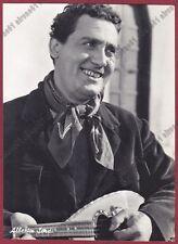 ALBERTO SORDI 05 ATTORE ACTOR ACTEUR CINEMA MOVIE - MANDOLINO Cartolina FOTOGRAF