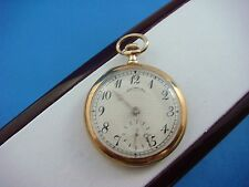 J.E. CALDWELL & CO 14K GOLD SMALL POCKET WATCH MADE IN PHILADELPHIA, 17.5 GRAMS.