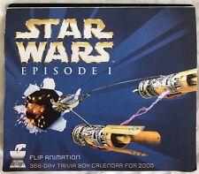 STAR WARS EPISODE 1 FLIP ANIMATION 366-DAY TRIVIA BOX CALENDAR FOR 2000