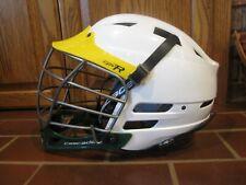 Cascade Cpv-R Lacrosse Lax Helmet White/Yellow New Xs-R