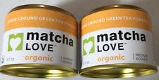 (PACK OF 2) Matcha Love Organic Stone Ground Green Tea Powder 0.7 oz X 2 NEW!!!