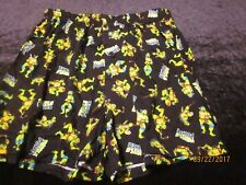 NEW men's BOXERS nickelodeon T.M.N.T. green RAFAHAEL  turtles multicolor  SMALL