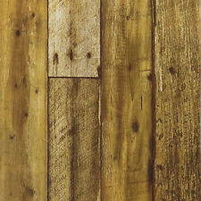 Peel and Stick Self-Adhesive Contact paper Brown wood wallpaper Decor-10M