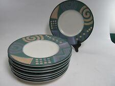 """Mikasa Intaglio CAC18 Life Style Saucers Bread Butter Plates 6.5"""" Set of 4"""