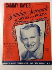 Sammy Kaye's Sunday Serenade of Songs and Poems 1940's Beautiful Cover, 48 pages
