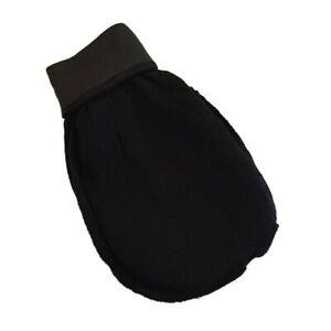 1PC Soft Black Viscose Body Scrub Gloves Bath Shower Scrubber Mitt for Skin
