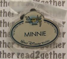 Disney Pin WDW Cast Member Name Badge Where Magic Lives Minnie