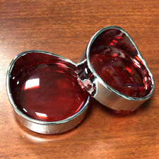 Turn Signal Visor Ring Kit Red Lens Cover For Harley Sportster Dyna Breakout