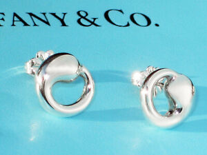 Tiffany & Co Sterling Silver Elsa Peretti Medium Eternal Circle Earrings