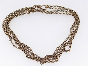 ANTIQUE 9CT GOLD BELCHER CHAIN WATCH, 7.6gms