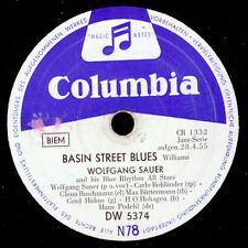 Wolfgang Sauer chante Jazz!!! Basin Street Blues/For you my love 78 tr/min s9176