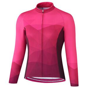 Women Cycling Jersey Jacket MTB Bike Long Sleeve Tight Shirt Team Clothing Top