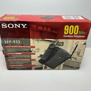 Sony SPP-933 900 MHz Cordless Telephone w/ Answering System Black