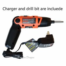 Black & Decker Cordless Lithium Ion Rechargeable Electric Screwdriver Power Tool