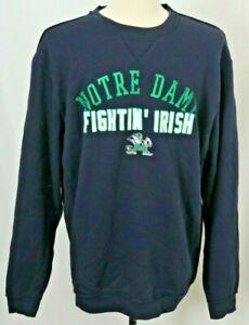 NEW Notre Dame Fighting Irish Colosseum Navy Distressed crew Sweatshirt Men's L