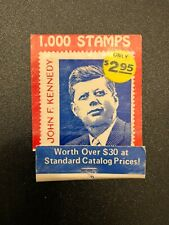 John F Kennedy Matchbook Vintage President Stamp Offer Match Book Pop Art Unused