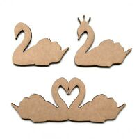 Wooden MDF Swan Crown Swan Wedding Decoration Shapes Craft Embellishment Plaques