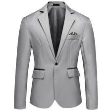 Men's Slim Fit One Button Long sleeve Blazer Jacket Wedding dress Business BB
