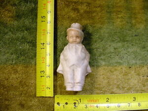 Man with hat age 1890 excavated Limbach Fève ancienne size 2.4 inch Art 11111