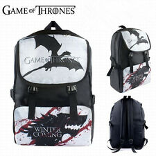 "17"" Game of Thrones Backpack Waterproof Canvas Children School traveling Bag"