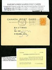 LOT 52641  EATON'S PRIVATE POST CARDS P29f : T EATON