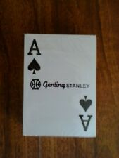 GENTING STANLEY CASINO POKER SIZE DECK OF SEALED PLAYING CARDS.(SEALED=MINT)