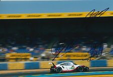 Dumas, Bernhard, Muller Hand Signed Porsche 12x8 Photo 2018 Le Mans.