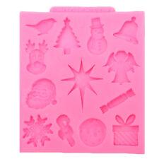 Noël série silicone fondant moule gâteau chocolat décor moule à pâtisserie